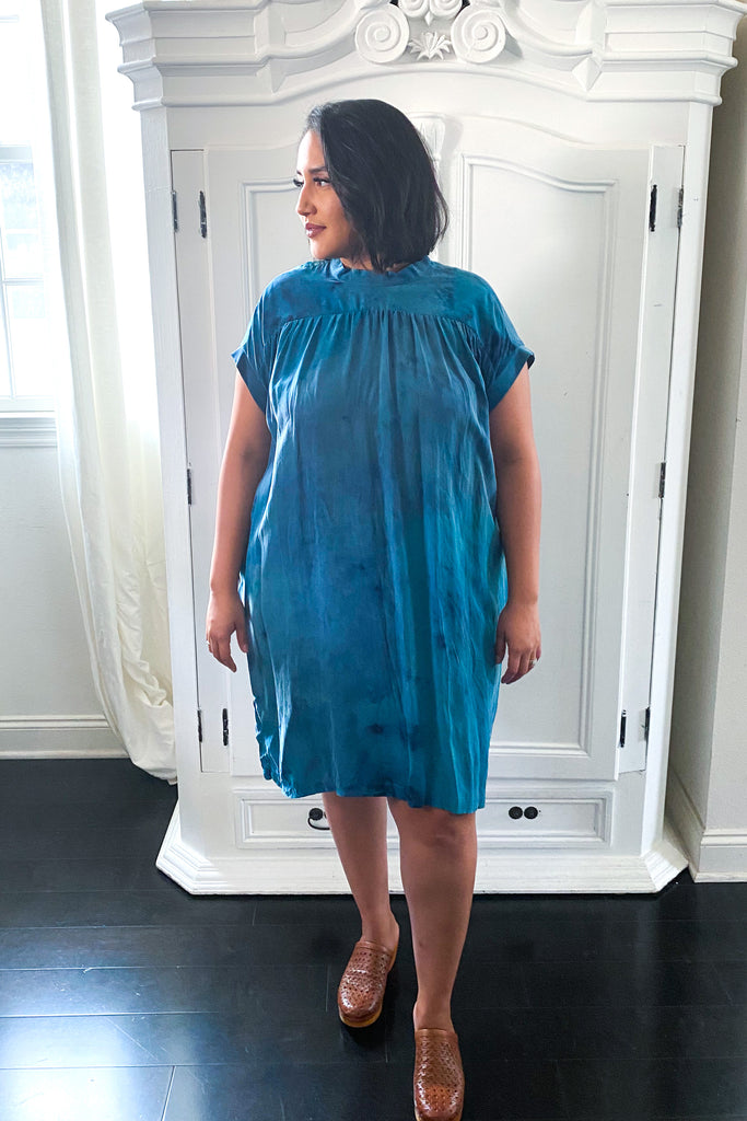 Simone Dress Hand Dyed Celadon