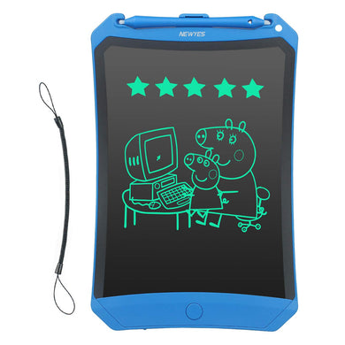 NEWYES Robot pad 8.5 Inch LCD Writing Tablet Electronic Doodle Pad Drawing Board Gifts for Kids Office Writing Board with Lock Function (Blue+Lanyard)