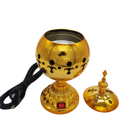 Exclusive Electrical Bakhoor Burner & 40g Fragrance Paste - Golden
