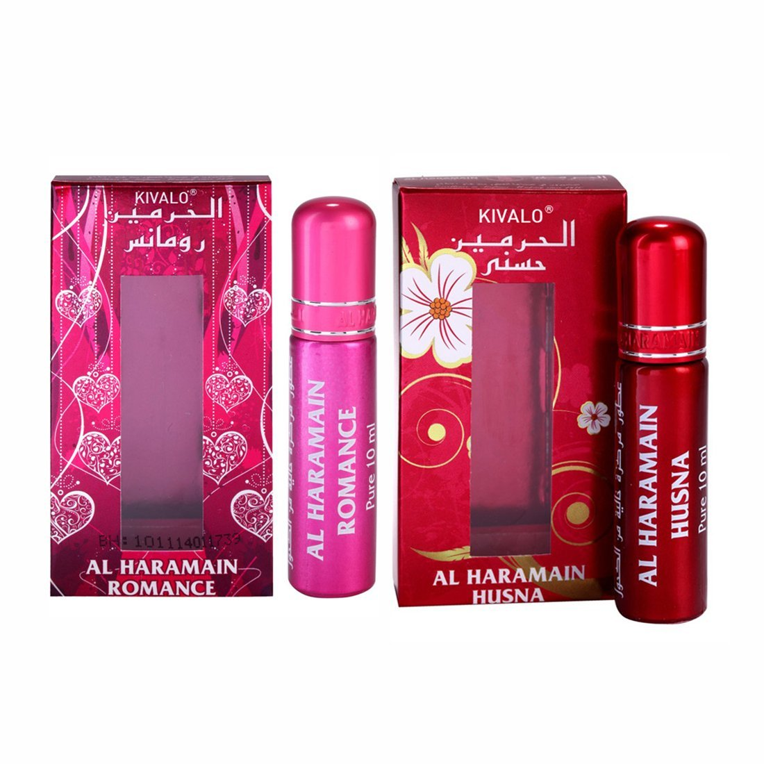 Al Haramain Romance & Husna Roll On Attar 10 ml Pack of 2