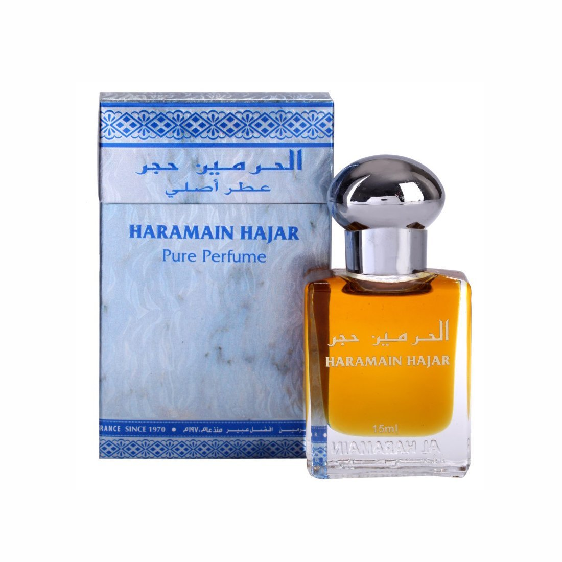 Al Haramain Firdous & Hajar Fragrance Pure Original Roll on Perfume Oil Pack of 2 (Attar) - 2 x 15 ml