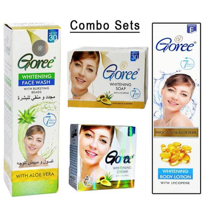 Goree Combo Sets of 4 (Face Cream / Beauty Soap / Face Wash / Body Lotion )
