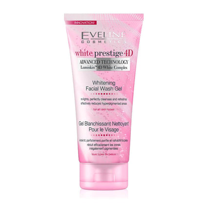 Eveline Cosmetics White Prestige 4D Whitening Facial Wash Gel 200ml