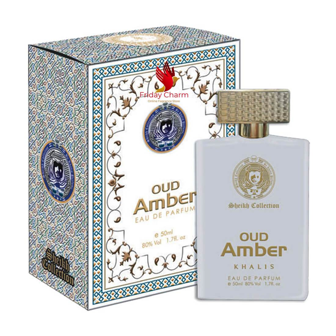 Khalis Oudh Amber Fragrance Spray - 50ml
