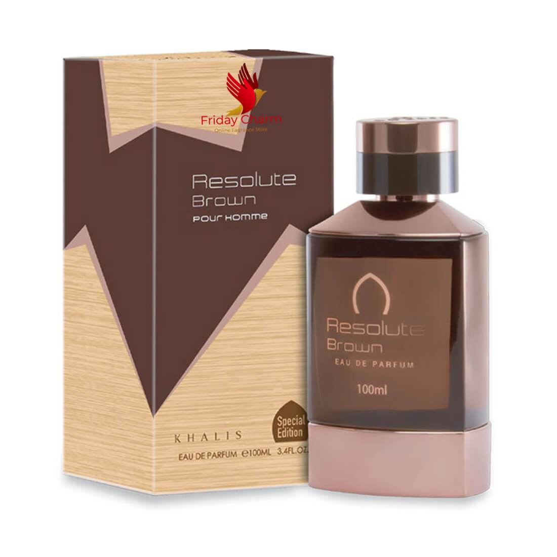Khalis Resolute Brown Fragrance Spray - 100 ml