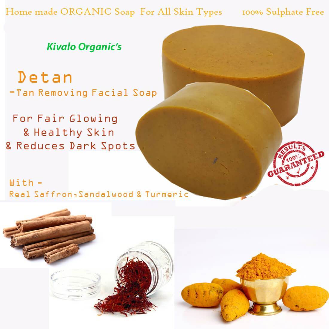 Organic Soap for De-Tan And Anti Aging