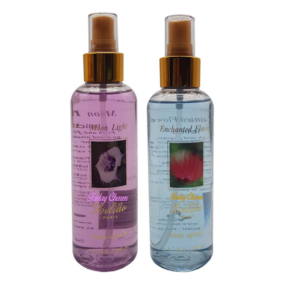 Lelido Paris Moon Light & Enchanted Flower Body Splash Mist 200ml