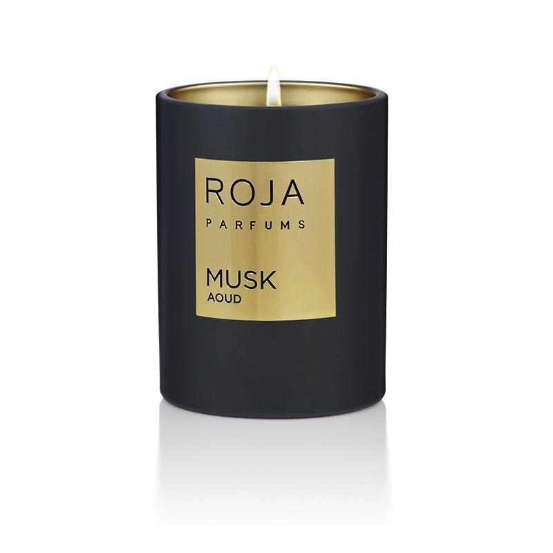 Roja Musk Aoud Fragrance Candle 300gm
