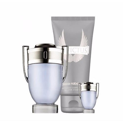 PACO RABANNE INVICTUS 100ML 3PC GIFT SET FOR MEN