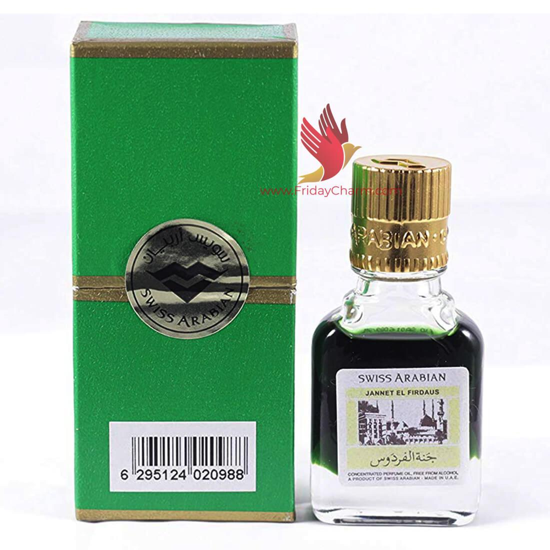Swiss Arabian Jannat ul Firdaus Attar - 9 ml Green