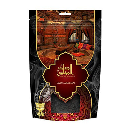 Swiss Arabian Muattar Al Majlis Oudh Wood Bakhoor Incense Scented Exotic Arabic Bukhoor Cologne 250g