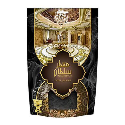 Swiss Arabian Muattar Sultan Oudh Wood Bakhoor Incense Scented Exotic Arabic Bukhoor Cologne 250g