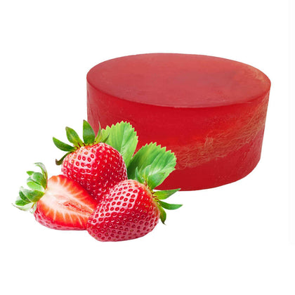 Organic Soap Strawberry Loofah Soap Including Loofah Body Scrub Moisturising Soap