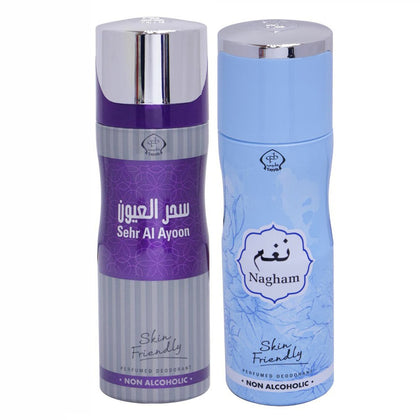 Tayyib Sehr Al Ayoon & Nagham Non Alcoholic Deodorant Combo Pack of 2 x 200 ml