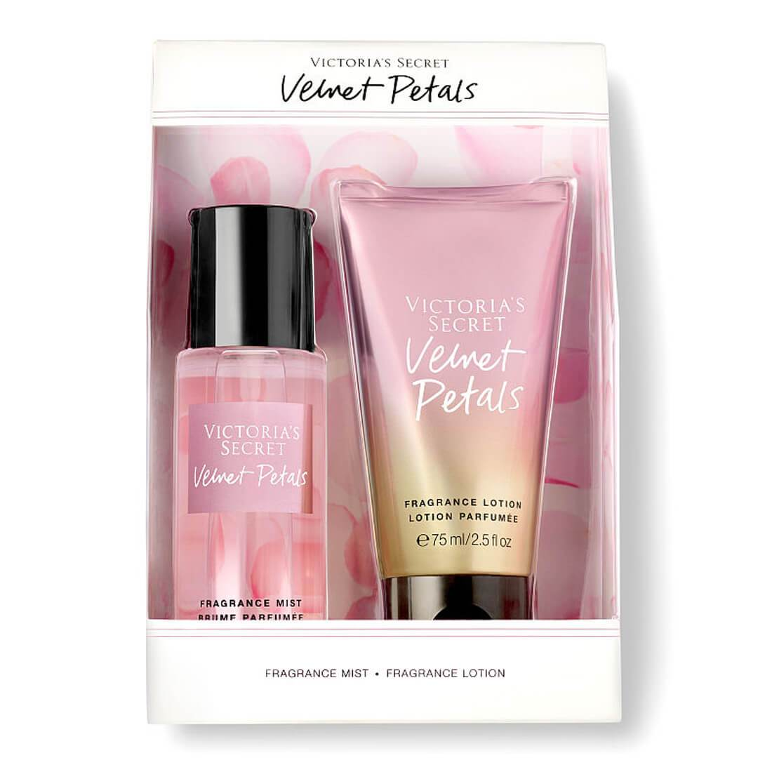 Victoria's Secret Velvet Petals Fragrance Gift Set Mist & Lotion