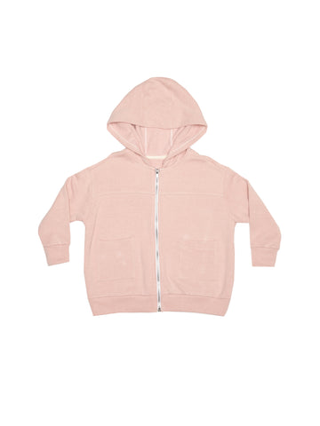 Fleece Zip Hoodie - Rose