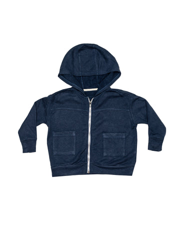 Fleece Zip Sweatshirt - Indigo