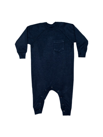 Fleece Romper - Indigo