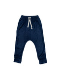 Fleece Harem Pant - Indigo
