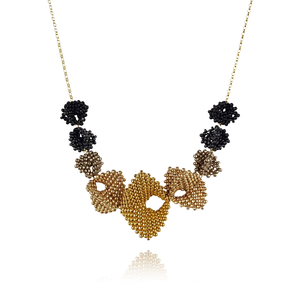 Infinity Elements Necklace - Gold & Black