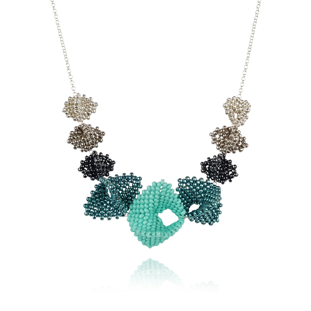 Infinity Elements Necklace - Turquoise & Silver