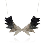 Thousand Hills Elements Necklace - Silver & Black
