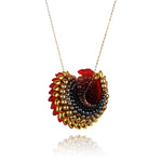 To Have And To Hold Necklace - Red & Gold