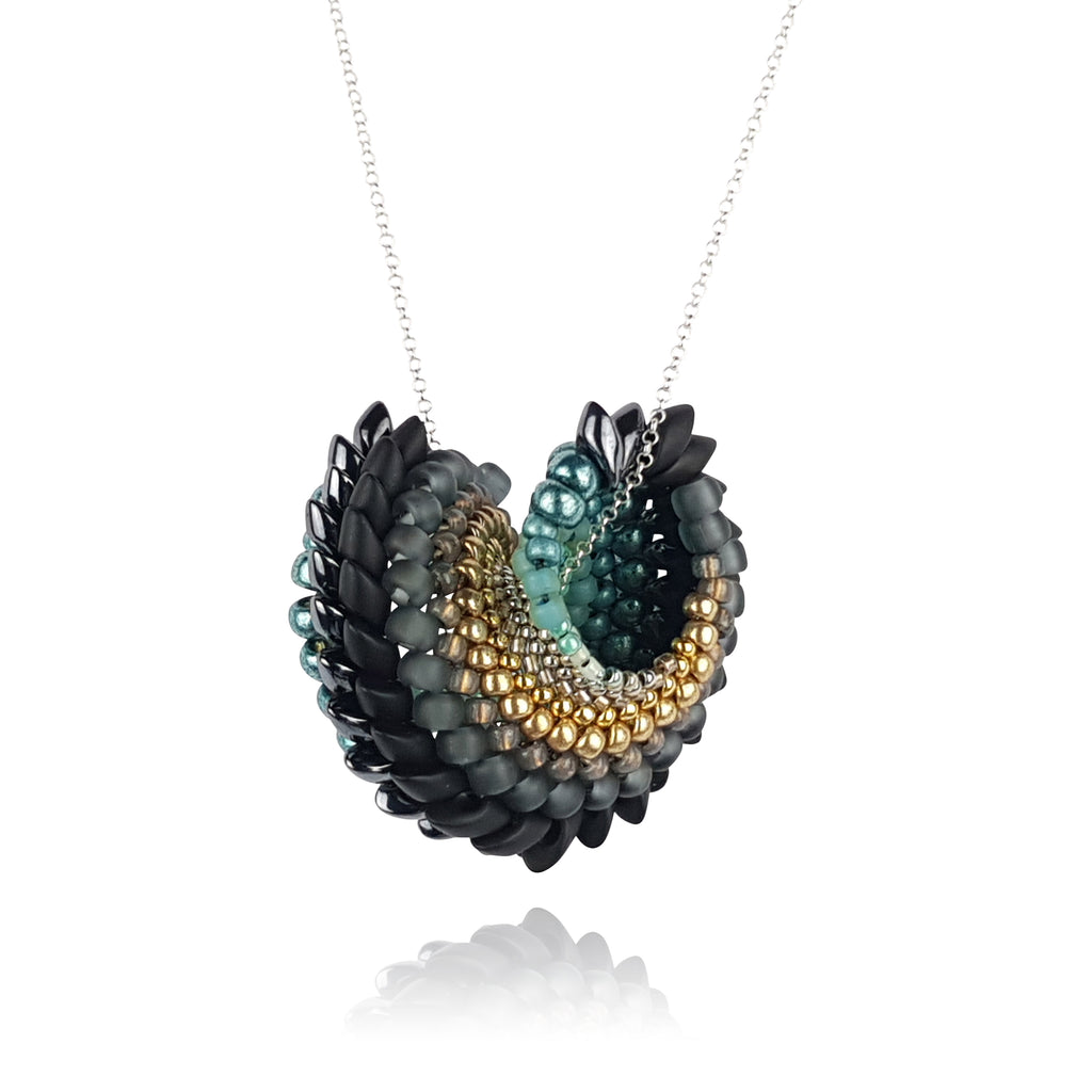 To Have And To Hold Necklace - Turquoise & Gold