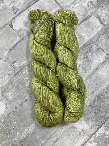 Sprouts on Slinky a single ply yarn