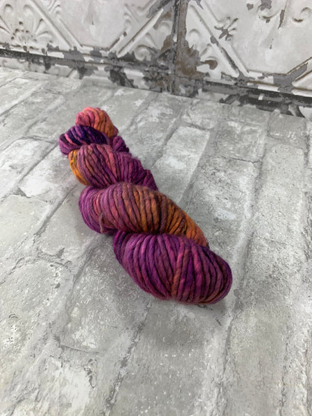 Wild Lily on Instant a bulky weight super wash merino