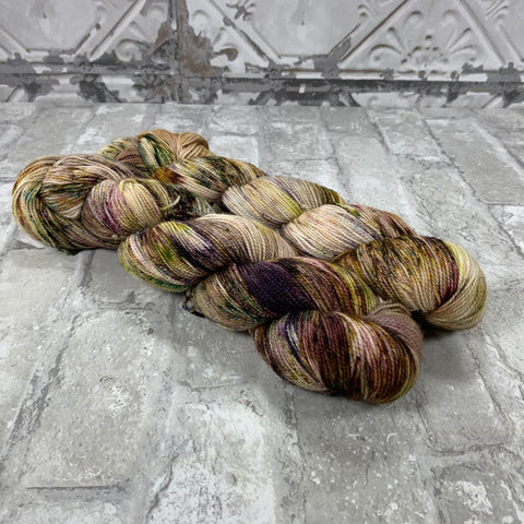 Ghost Town on Gold 400 yards of super wash fingering weight yarn