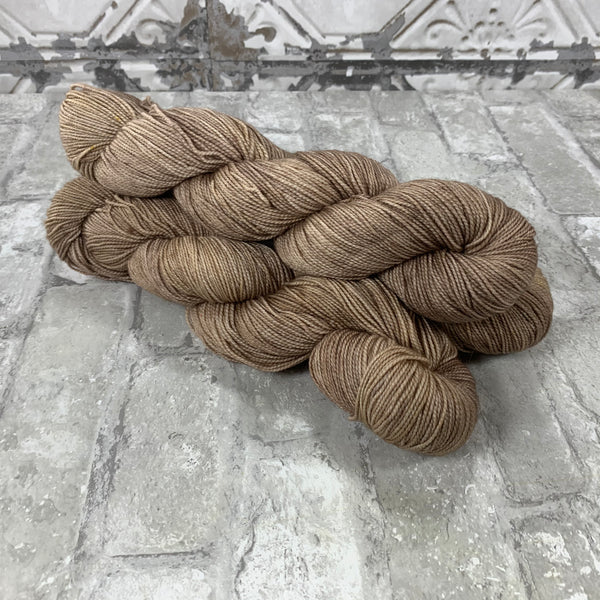 Latte on Gold 400 yards of super wash fingering weight yarn