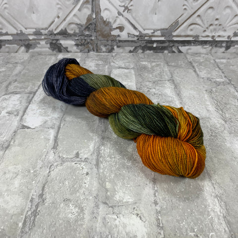 Harvest on Gold 400 yards of super wash fingering weight yarn