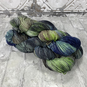 Deatheaters on Gold 400 yards of super wash fingering weight yarn