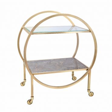 Empredor Brass Cocktail Cart