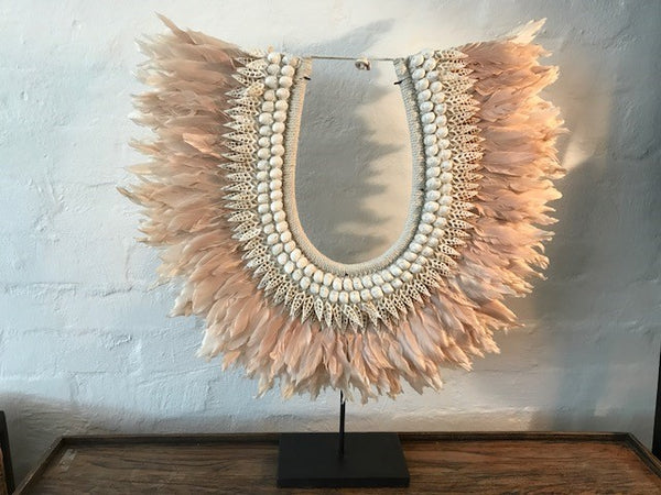 Feathered Trible Necklace, Lush Rose Colour