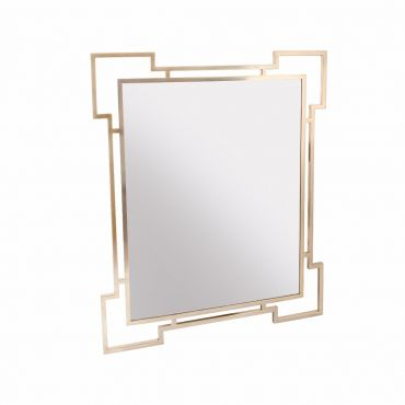 Geometric Brass Mirror