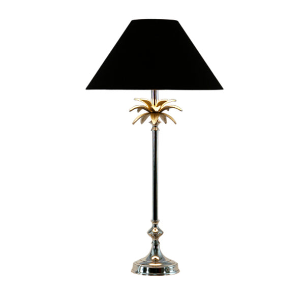 Nickel Pineapple Lamp Black