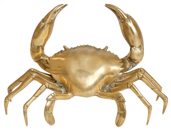 Brass crab sculpture