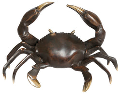 Black Brass crab sculpture