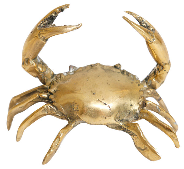 Gold crab sculpture