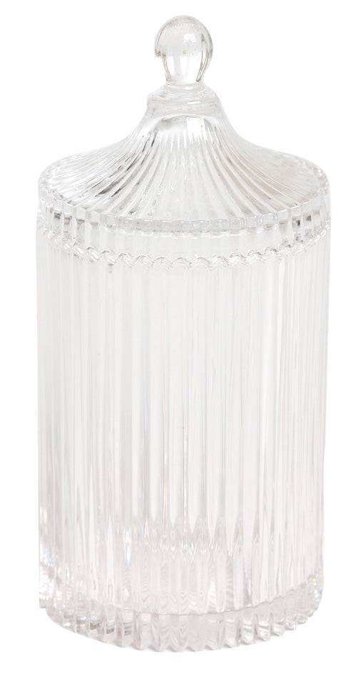 Ribbed glass vessel