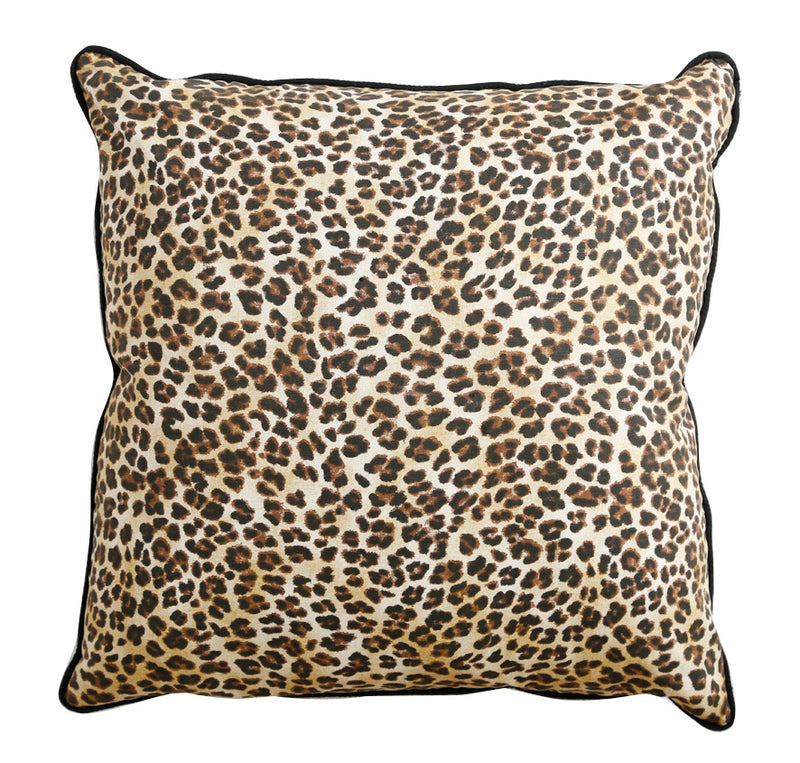 Leopard print cushion.