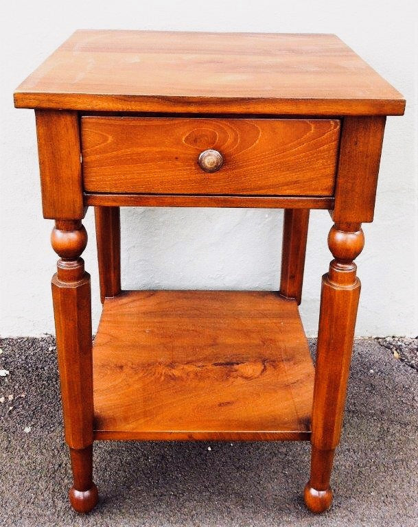 Colonial Hamptons Bedside Table Reclaimed Teak