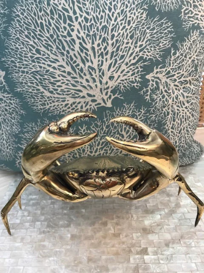 Large Brass Crab Sculpture