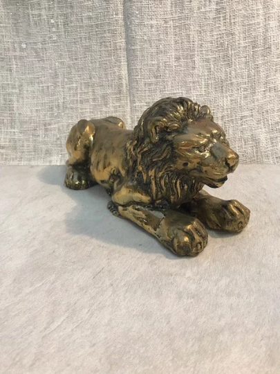 Brass Lion Sculpture