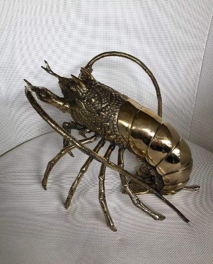 Brass Lobster Sculpture