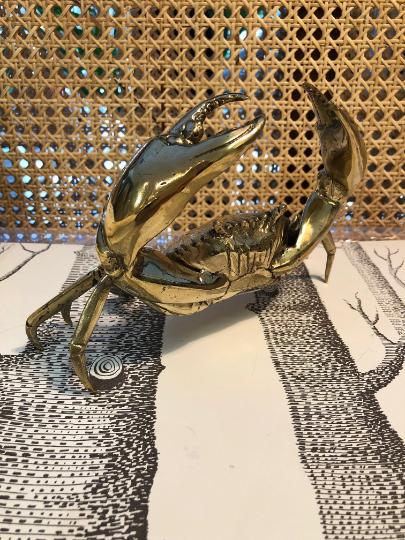 Gold Crab Sculpture (medium size)