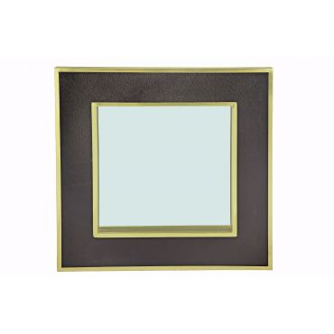 Luxe Noir Black/Brass Mirror