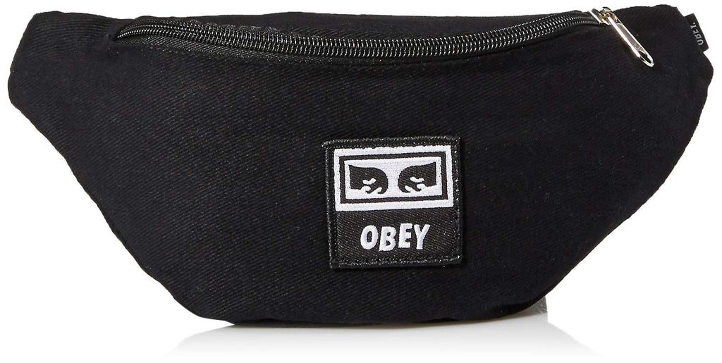 Obey OBEYメンズ無駄ヒップバッグ、黒ツイル、ONE SIZE